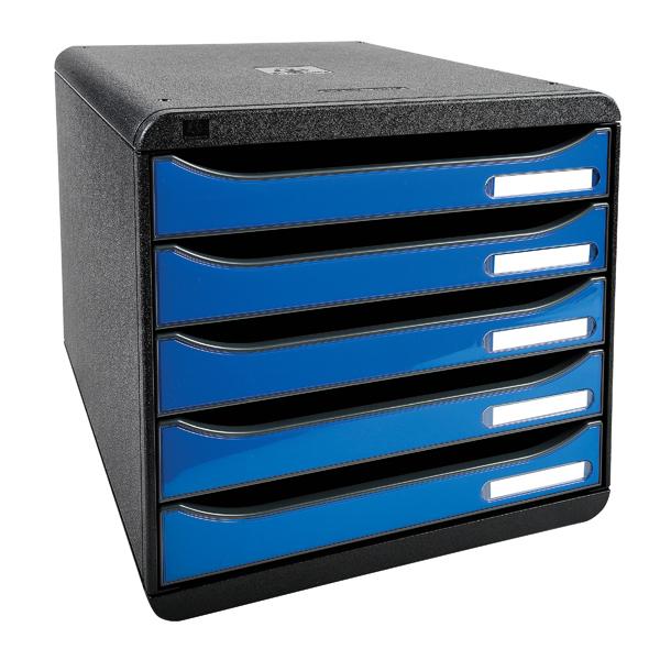 Exacompta Iderama Big Box Plus 5 Drawer Set Blue (Dimensions: W278 x D347 x H271mm) 3097279D