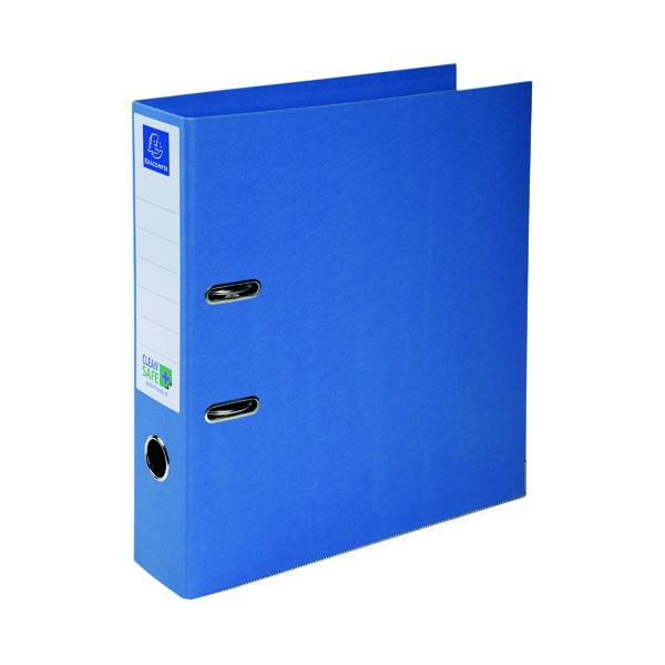Exacompta Clean Safe Lever Arch File 70mm Blue 53222E
