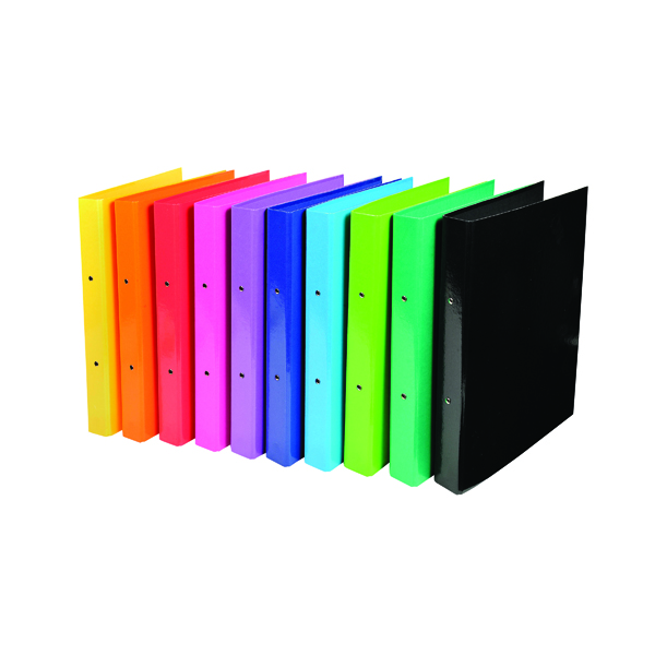 Iderama A4 Ring Binder 2 Ring 30mm Assorted (Pack of 10) 54929E