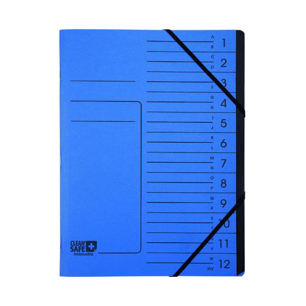 Exacompta Clean Safe Multipart File 12 Parts 57122E