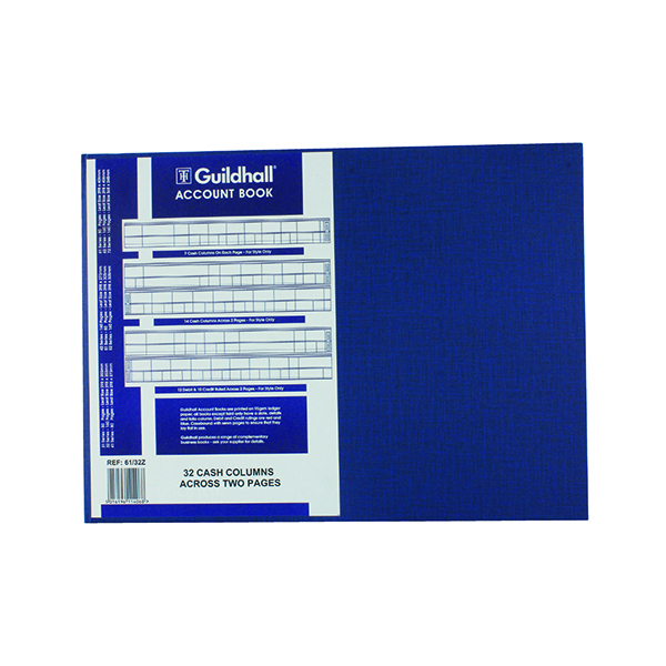 Exacompta Guildhall Account Book 80 Pages 32 Cash Columns 61/32 1406