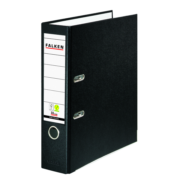 Exacompta Lever Arch File Vegan A4 Black (Pack of 20) 09984089F