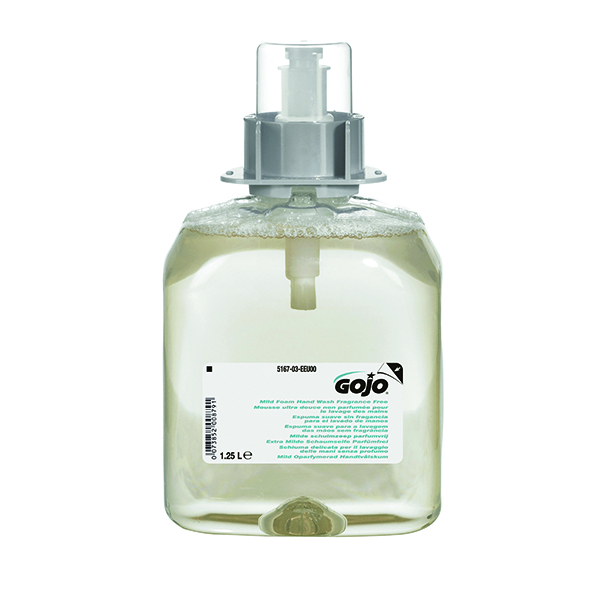 Gojo Mild Fragrance Free Hand Wash FMX 1250ml Refill (Pack of 3) 5167-03-EEU