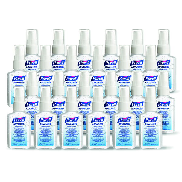 Purell Advanced Hygienic Hand Rub PERSONAL 60ml (Pack of 24) 9606-24-EEU00