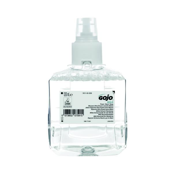 Gojo Mild Foam Hand Soap LTX-12 1200ml Refill (Pack of 2) 1911-02-EEU
