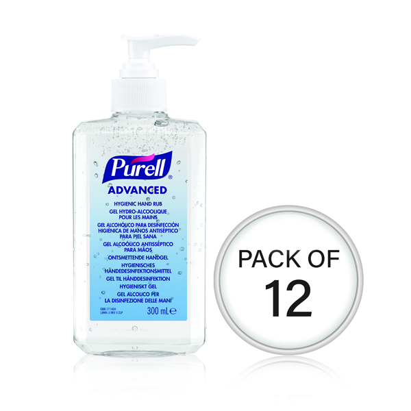 Purell Hand Rub Bottle 300ml (Pack Of 12) 9263-12-EEU00