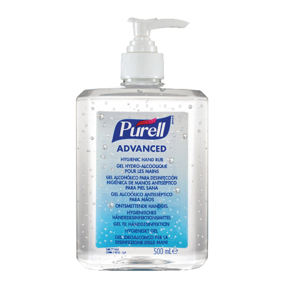 Purell Advanced Hygienic Hand Rub 500ml 9268-12-EEU00