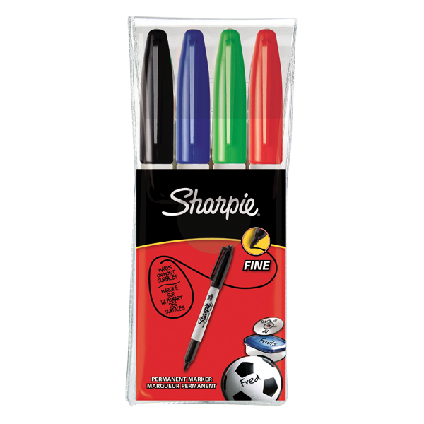Sharpie Permanent Marker Fine Assorted (Pack of 4) S0810970