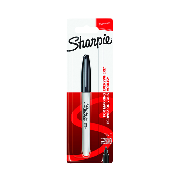 Sharpie 08 Permanent Marker Fine Black (Pack of 12) 1985857