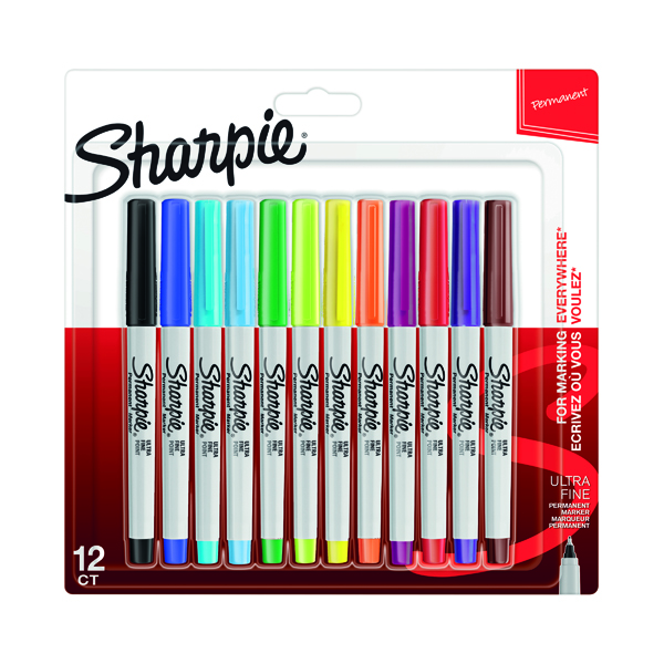 Sharpie Marker Ultra-Fine Assorted (Pack of 12) S0941891