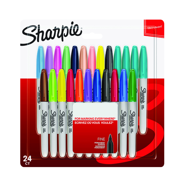 Sharpie Marker Fine Assorted (Pack of 24) 2065405