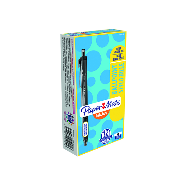 PaperMate Inkjoy 300 Retractable Ball Pen Black (Pack of 12) S0959910