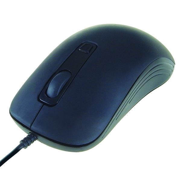 Computer Gear 4 Button Optical Scroll Mouse Black 24-0543