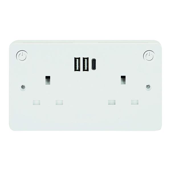 Connekt Gear Smart Wi-Fi Fast Charging Socket27-3054/SMART