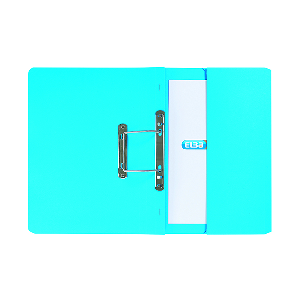 Elba Spring Pocket File 320gsm Foolscap Blue (Pack of 25) 100090146