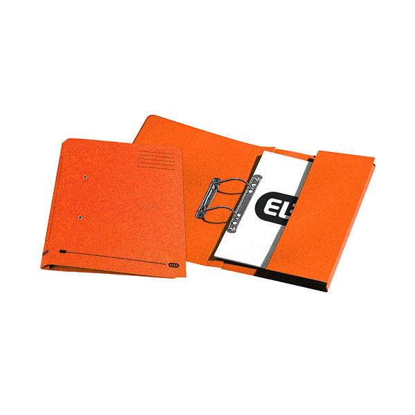 Elba Stratford Spring Pocket File 320gsm Foolscap Orange (Pack of 25) 100090148
