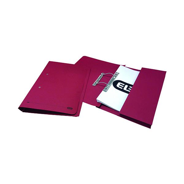 Elba Stratford Spring Pocket File 320gsm Foolscap Bordeaux (Pack of 25) 100090149