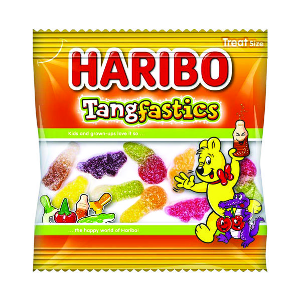 100 x Haribo Tangfastics Small Bag (Fruity sweets with sour sugar coating) 73143