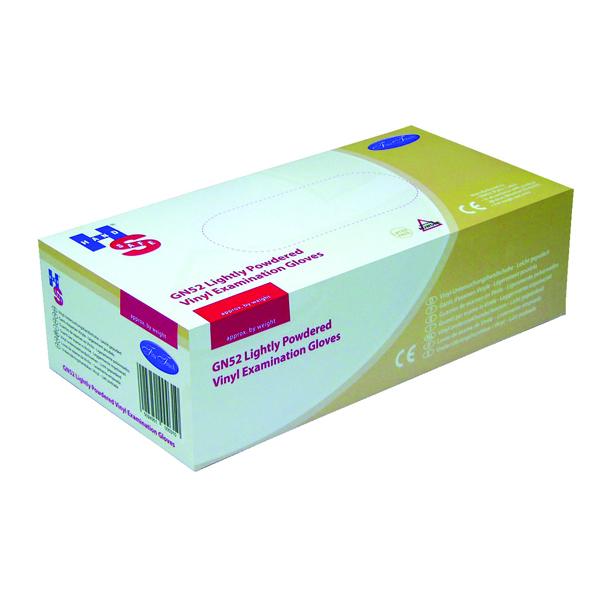Handsafe Powdered Clear Medium Vinyl Gloves (Pack of 100) GN52