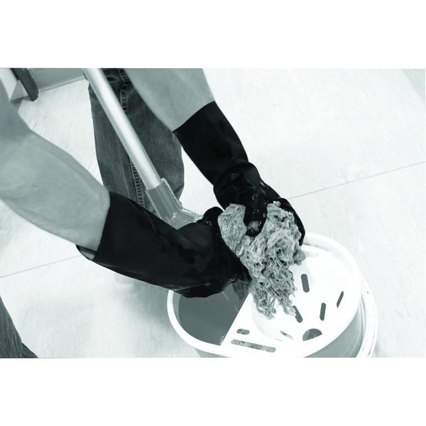 Image for Shield Industrial Rubber Gloves Black Size 9 GI/6406