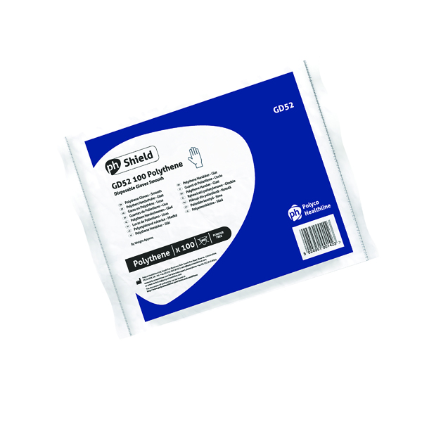 Shield Clear Polythene Glove GD52 Medium (Pack Of 10000) GD52 MED