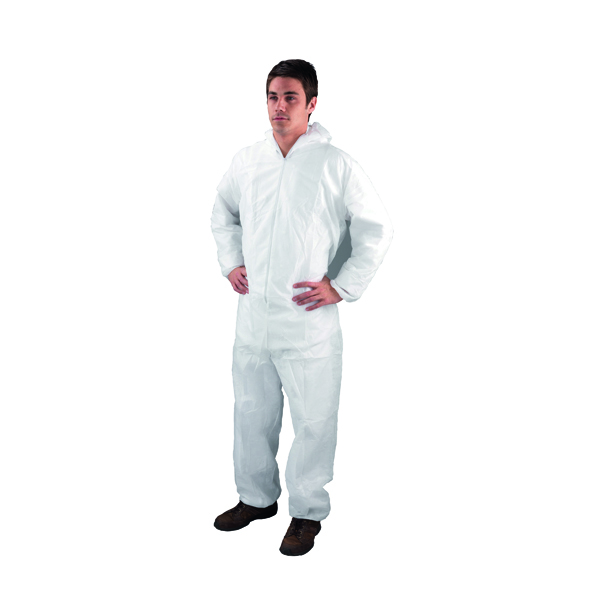 Non-Woven Coverall Medium 40-44 Inch White DC03
