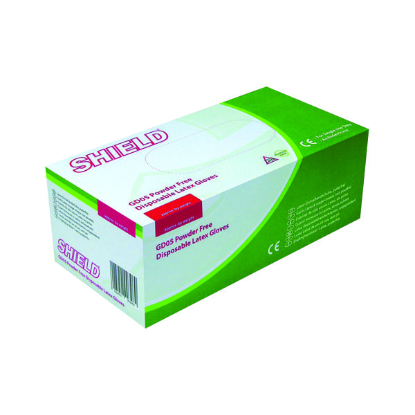Shield P/F Latex Gloves Large (Pack of 1000)