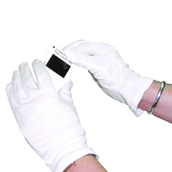 White Knitted Cotton Large Gloves (Pack of 20) GI/NCME