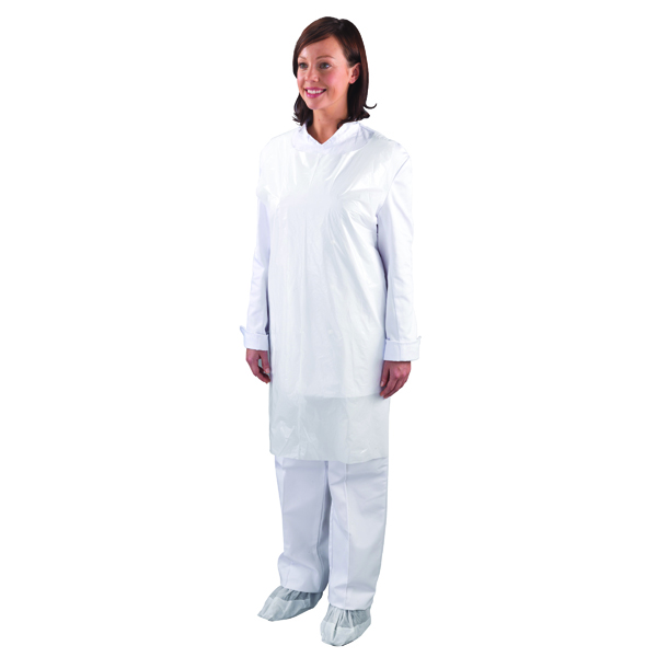Shield Disposable Aprons on a Roll White (Pack of 1000) A2W/R