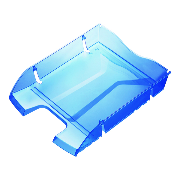 Helit PET Recycled Letter Tray Blue H2363530