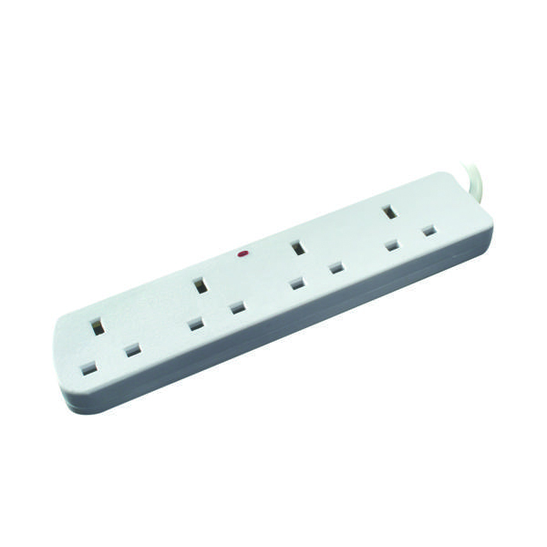 CED 4-Way Extension Lead 13amp 5m White CEDTS4513F