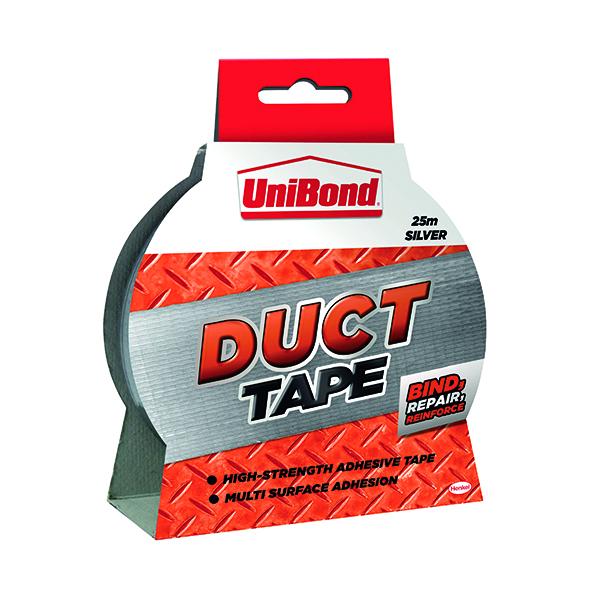 Unibond Duct Tape 50mmx25m Silver 1667753