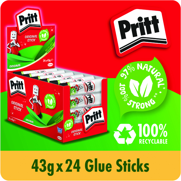 Pritt Stick Glue Stick 43g (Pack of 24) 1564148