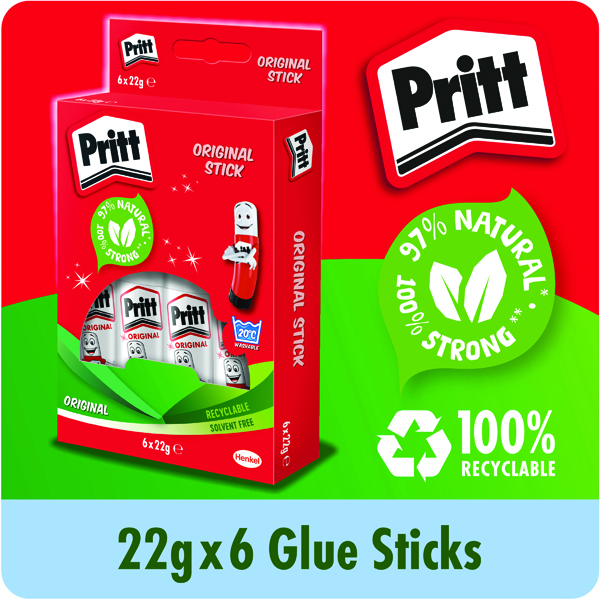 Pritt Stick Glue Stick 22g (Pack of 6) 10456071
