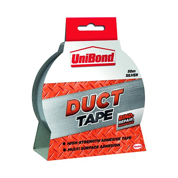 Unibond Duct Tape 50mmx50m Silver