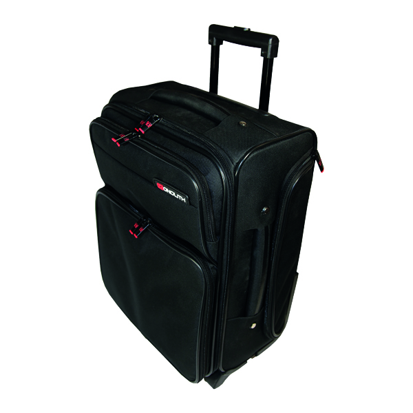 Monolith Wheeled Overnight Laptop Case with Removable Padded Laptop Case Black 1329