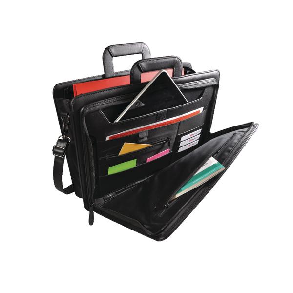 Monolith Front Flap Document Case W440 x D120 x H320mm Black 2774