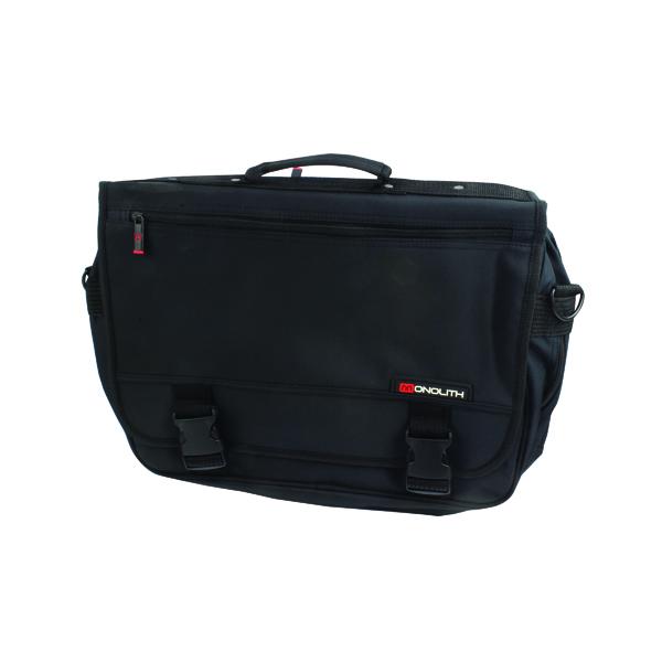Monolith Microfibre Soft Sided Briefcase Black 3192
