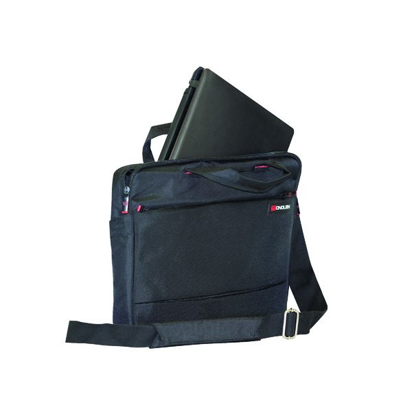 Monolith Slim 15.6 inch Laptop Case with Lockable Zips Black 3201