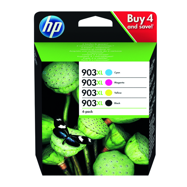 HP 903XL HY Original Ink Cartridges CMYK (Pack of 4) 3HZ51AE