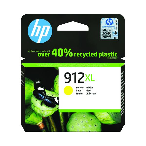 HP 912XL High Yield Ink Cartridge Yellow 9.9ml 3YL83AE
