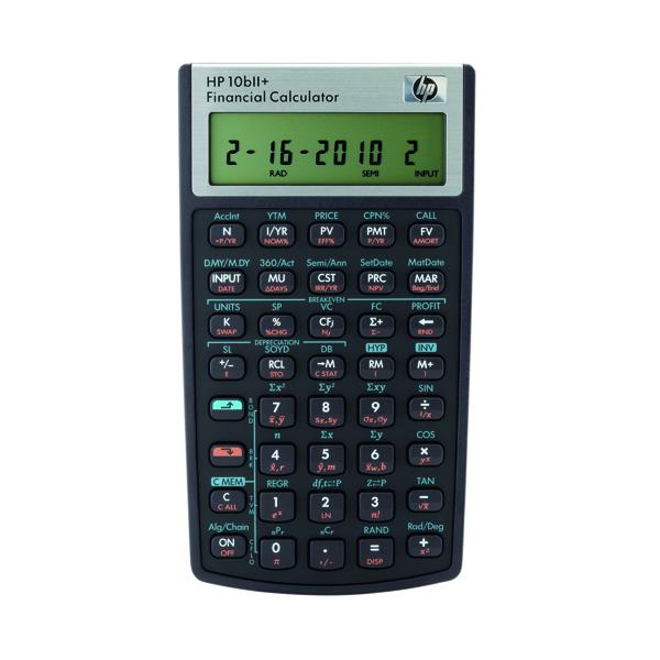 HP 10bii+ Financial Calculator HP-10BIIPLUS/B12