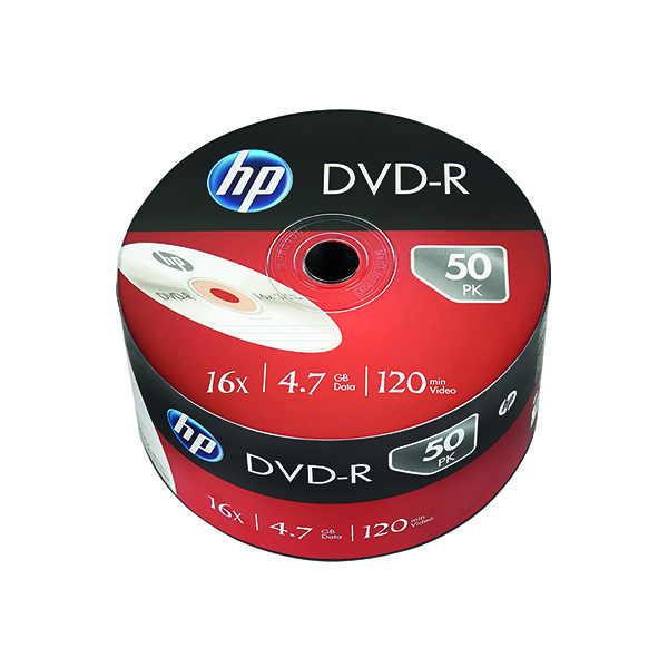 Image for HP DVD-R 16X 4.7GB Wrap (Pack of 50) 69303