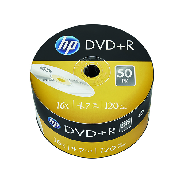 Image for HP DVD+R 16X 4.7GB Wrap (Pack of  50) 69305
