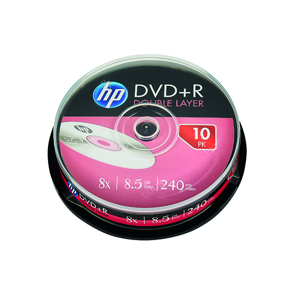 Image for HP DVD+R DL 8X 8.5GB Spindle (Pack of 10) 69309