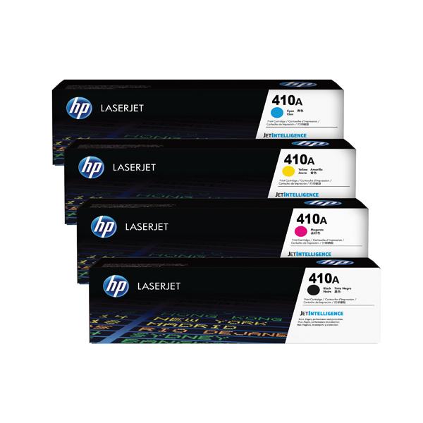 HP 410 Toner Cartridge Bundle Cyan/Magenta/Yellow/Black (Pack of 4)