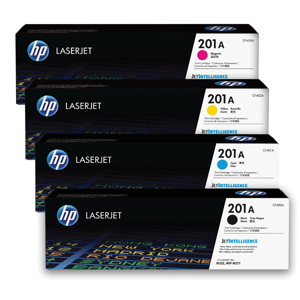 HP 201 Toner Cartridge Bundle Cyan/Magenta/Yellow/Black (Pack of 4)