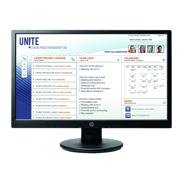Image for HP V214a Full HD Flat LED Display 20.7 Inch Black 1FR84AT#ABU