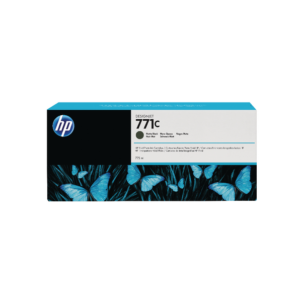 HP 771C Matte Black Designjet Ink Cartridge B6Y07A