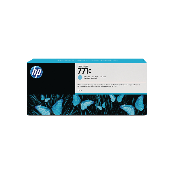 HP 771C Light Cyan Designjet Ink Cartridge ( Capacity: 775ml) B6Y12A